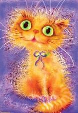 """Набор алмазной вышивки """"Рыжий любопытный кот"""""""