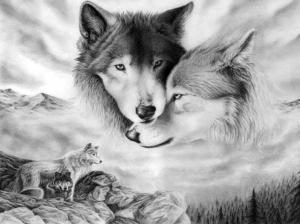 """Набор алмазной вышивки """"Волки"""""""