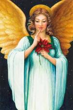 """Набор алмазной вышивки """"Ангел с Рождественской звездой"""""""
