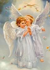 """Набор алмазной мозаики """"Два ангелочка"""""""