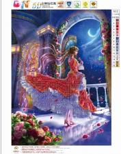 "Набор алмазной мозаики ""Девушка во дворце"""