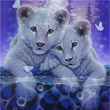 Набор алмазной вышивки Два тигренка