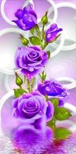 """Набор алмазной мозаики """"Фиолетовая роза"""""""