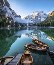 """Набор алмазной мозаики """"Лодки на озере"""""""