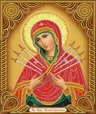 """Набор алмазной вышивки """"Образ Пресвятой Богородицы Семистрельна"""""""