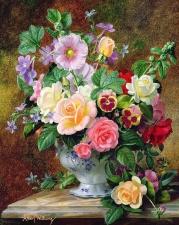 """Набор алмазной мозаики """"Очаровательный букет цветов"""""""