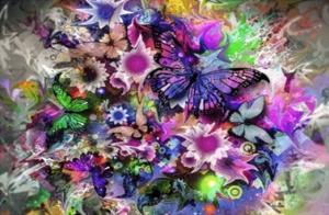 """Набор алмазной вышивки """"Разноцветная бабочка"""""""