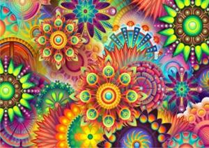"""Набор алмазной вышивки """"Разноцветные цветы"""""""