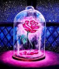 """Набор алмазной вышивки """"Роза под куполом"""""""
