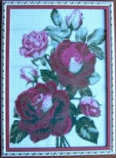 """Набор алмазной мозаики """"Бордовая роза в рамке"""""""