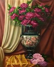 """Набор алмазной мозаики """"Шикарные розы в вазе"""""""