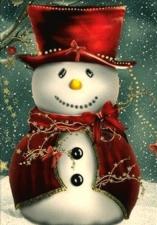 """Набор алмазной вышивки """"Веселый снеговик"""""""