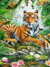 "Набор алмазной мозаики ""Тигр"""