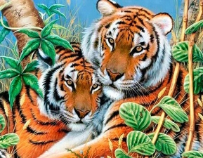 "Набор алмазной мозаики ""Тигры"""