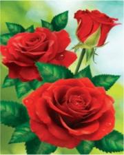 """Набор алмазной мозаики """"Три красные розы"""""""