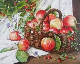 """Набор алмазной мозаики """"Яблоки и земляника"""""""