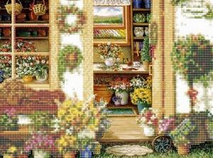 """Набор алмазной мозаики """"Садовые цветы"""""""