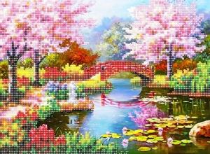 """Набор алмазной мозаики """"Цветы сакуры"""""""