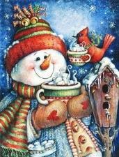 """Набор алмазной вышивки """"Снеговик. Сладкого и теплого года"""""""
