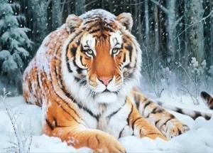 "Набор алмазной вышивки ""Зима. Тигр"""