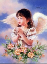 """Набор алмазной вышивки """"Ангелочек девочка в молитве"""""""