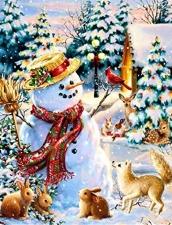 """Набор алмазной вышивки """"Снеговик. Весело с друзьями"""""""