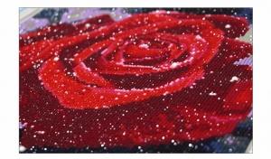 """Набор алмазной мозаики """"Роса на розе"""""""