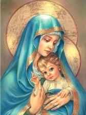 """Набор алмазной мозаики """"Божия Матерь с малышом"""""""