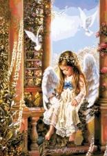 """Набор алмазной вышивки """"Девочка-ангел"""""""