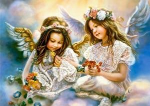 """Набор алмазной мозаики """"Девочки-ангелочки"""""""