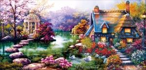 """Набор алмазной мозаики """"Райский домик"""""""