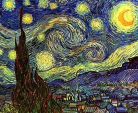 """Набор алмазной мозаики """"Звездная ночь, худ.Ван Гог"""""""