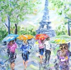 """Набор алмазной мозаики """"Весенний Париж. Картина маслом"""""""