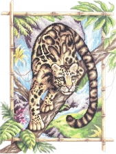 """Набор алмазной мозаики """"Леопард"""""""