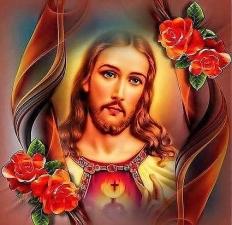 """Набор алмазной мозаики """"Сердце Иисуса"""""""