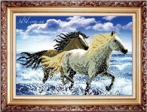 """Набор алмазной вышивки """"Лошади"""""""