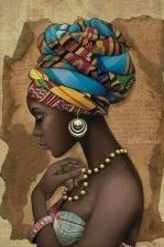 """Набор алмазной вышивки """"Африканка"""""""