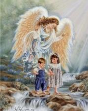 """Набор алмазной мозаики """"Ангел охраняет деток"""""""