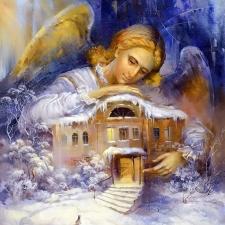 """Набор алмазной вышивки """"Ангел охраняет дом"""""""