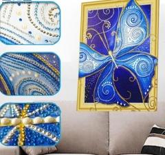 """Набор алмазной мозаики """"Бабочка - символ души, символ матери"""""""