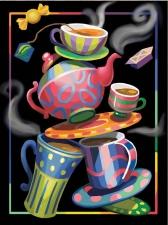 """Набор алмазной мозаики """"Безумное чаепитие. Алиса в стране чудес"""""""