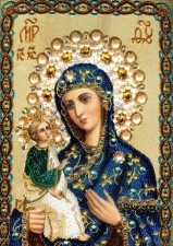 """Набор алмазной мозаики """"Богородица с младенцем"""""""