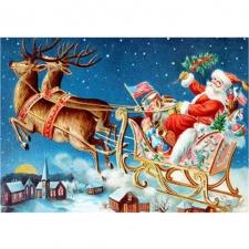 """Набор алмазной вышивки """"Дед Мороз с подарками"""""""