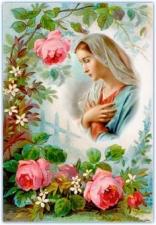 """Набор алмазной вышивки """"Дева Мария в нежных розах"""""""