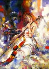 """Набор алмазной мозаики """"Девушка с виолончелью"""""""