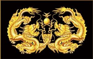 """Набор алмазной мозаики """"Два дракона"""""""