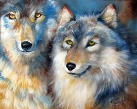 """Набор алмазной мозаики """"Два волка"""""""