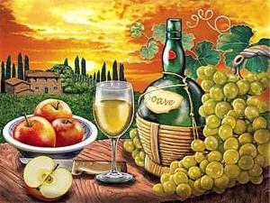 """Набор алмазной вышивки """"Игристое вино Соаве. Самое популярное белое вино Италии"""""""