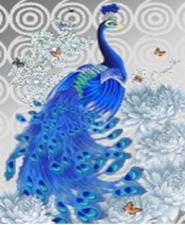 """Набор алмазной мозаики """"Индийский синий павлин"""""""
