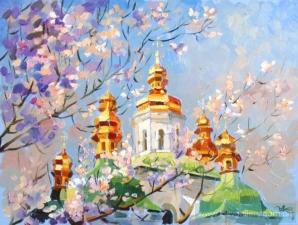 """Набор алмазной мозаики """"Киев. Весенний день. Худ. Колос Анна"""""""